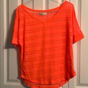 Hollister neon blouse NWOT